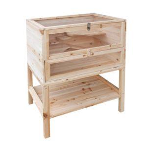 Hamsterkäfig XXL Holz Serina vorderansicht
